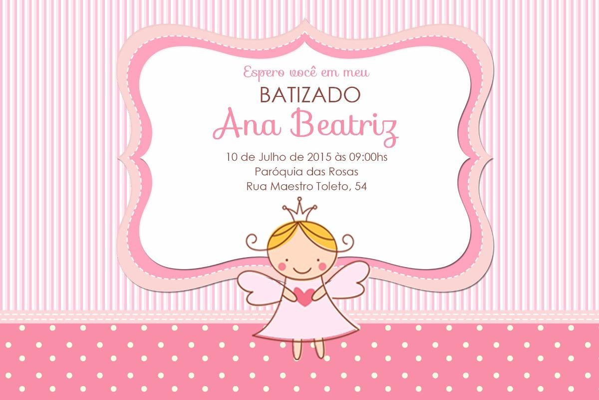 Convite Digital Batizado Menina 12 00 R 12 00 Em Mercado Livre
