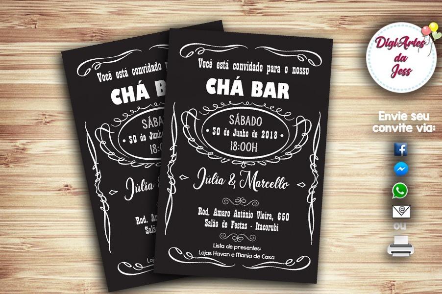 Convite Digital Chá Bar R 2200 Em Mercado Livre