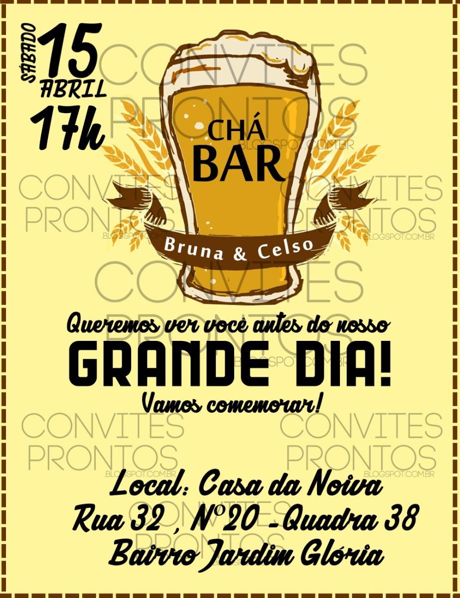 Convite Digital Chá Bar R 1600 Em Mercado Livre