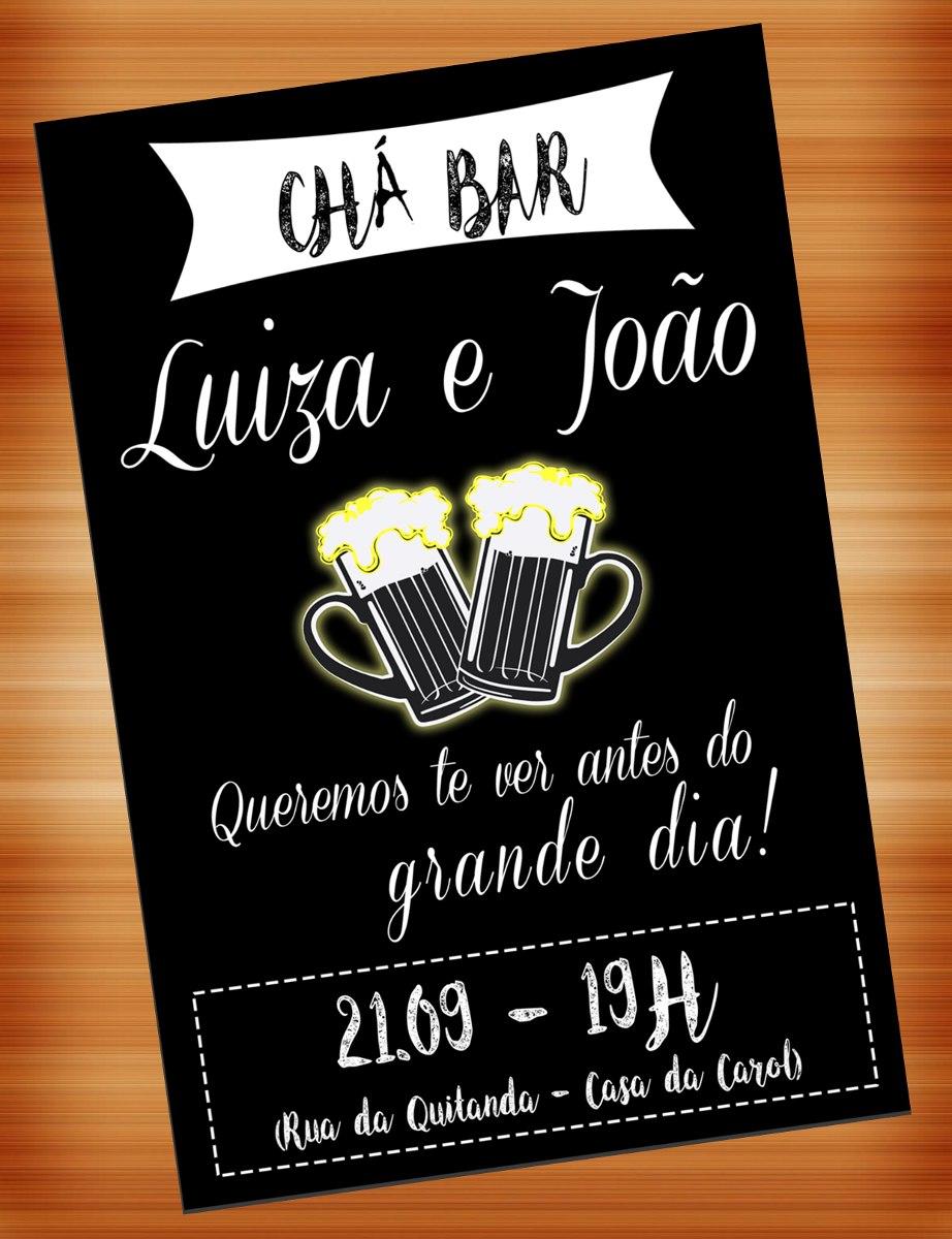 Convite Digital Cha Bar Chabar Boteco Panela R 20 00 Em Mercado