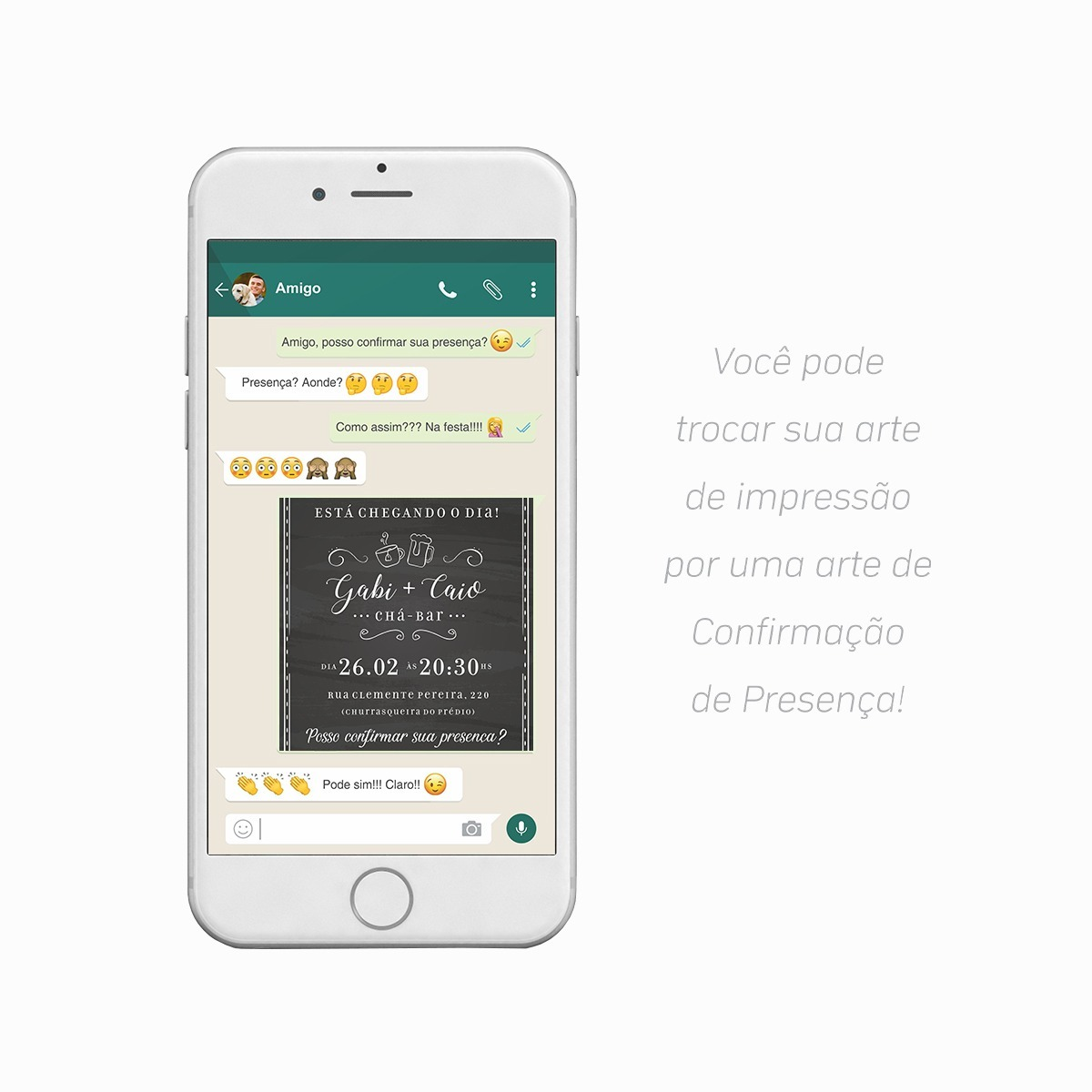 Convite Digital Cha Bar Lousa Boteco Virtual Imprimir R 29 00