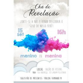 Convite Digital Chá De Revelação - Envio Por Whatsapp