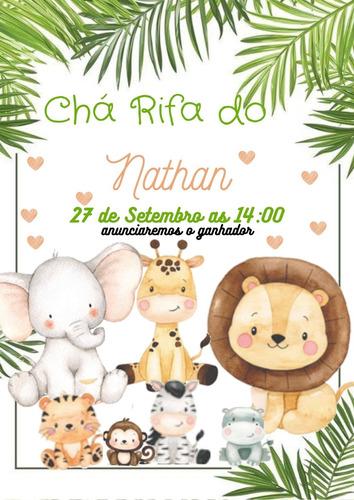 convite digital chá rifa + cartela whatsapp