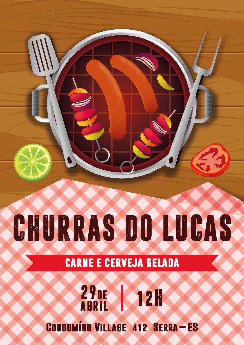 Convite Digital Churrasco R 1490 Em Mercado Livre