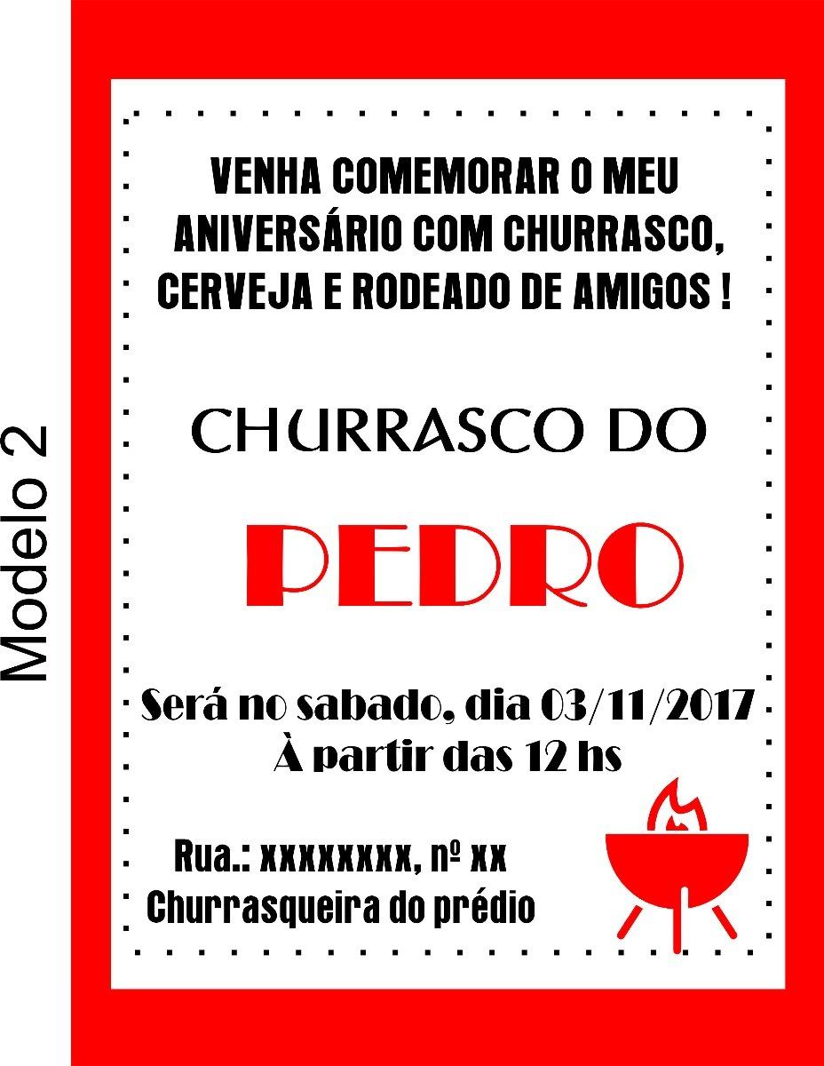 Convite Digital Churrasco R 1000 Em Mercado Livre