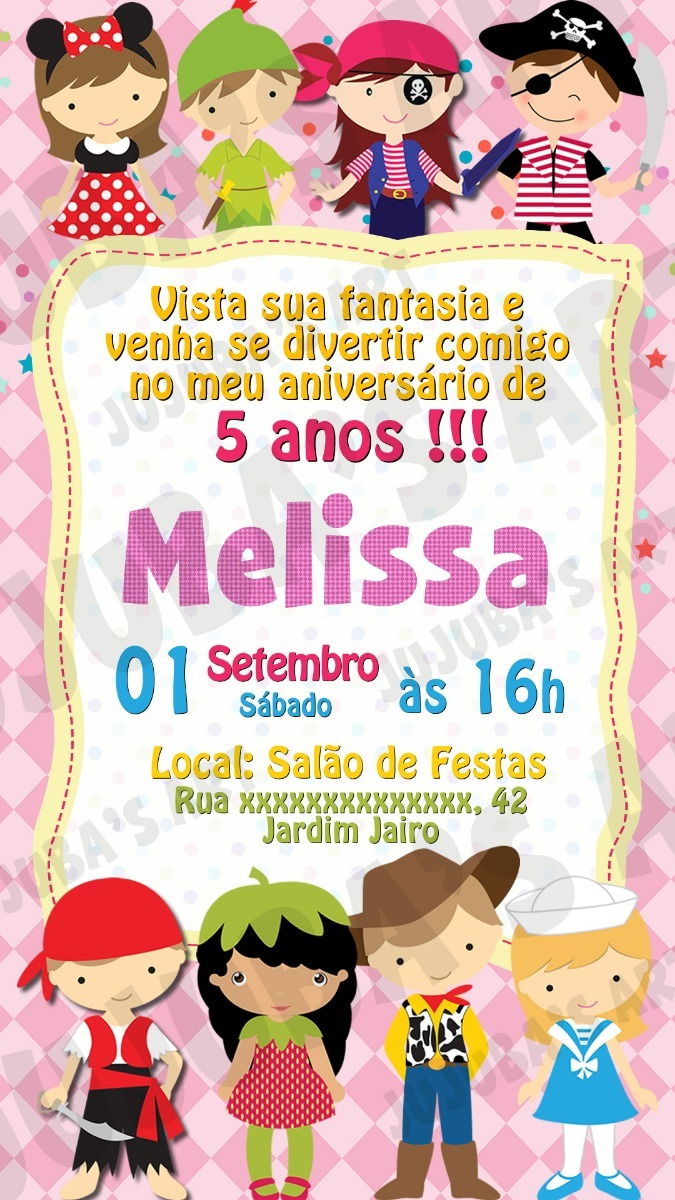 Convite Digital Festa A Fantasia Para Whatsapp Mod5 R 15 00 Em