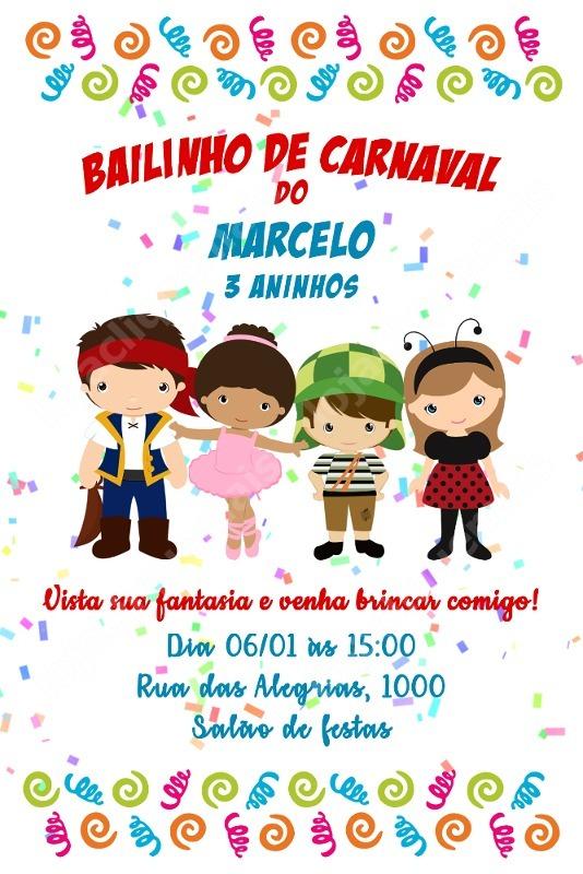 Convite Digital Festa Aniversario Bailinho Carnaval Menino R 16
