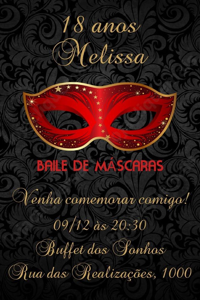 convite digital festa baile de m u00e1scaras 18 anos