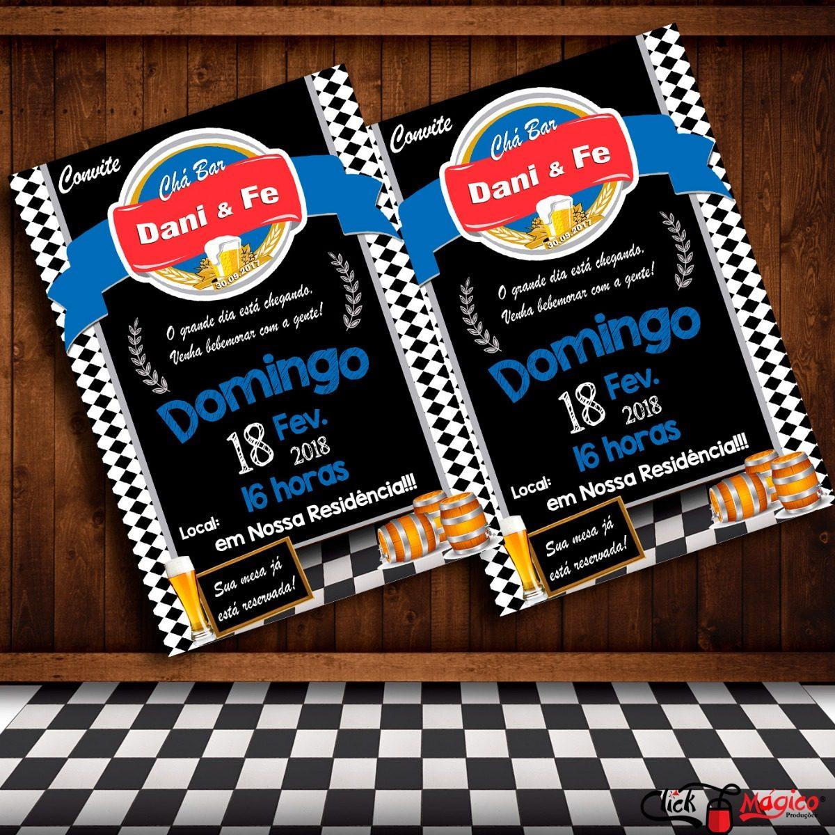 Convite Digital Festa Boteco E Chá Bar Brahma Azul R 3500 Em
