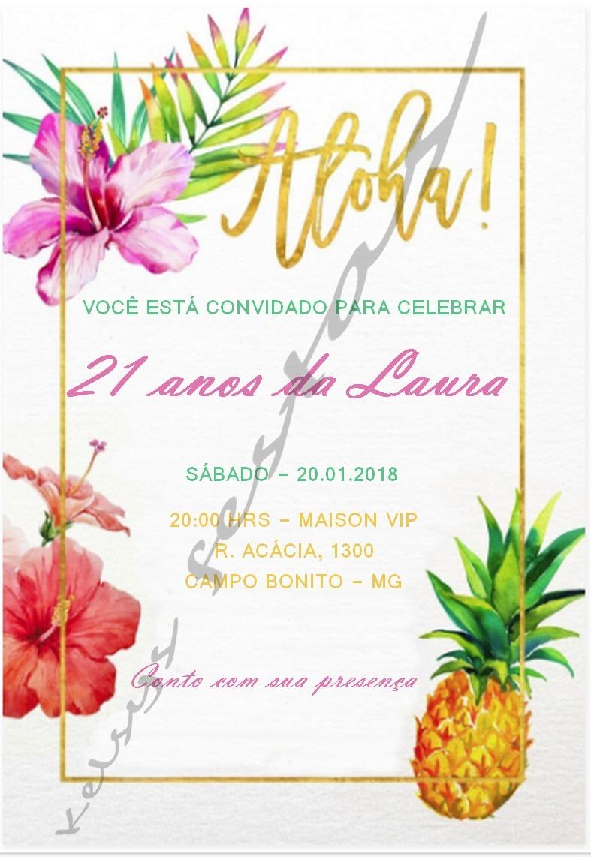Convite Digital Festa Tropical Personalizado R 1500 Em Mercado Livre