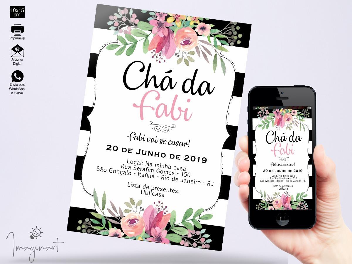 3872642e58694b Convite Digital Floral - Chá De Panela / Lingerie / Cozinha