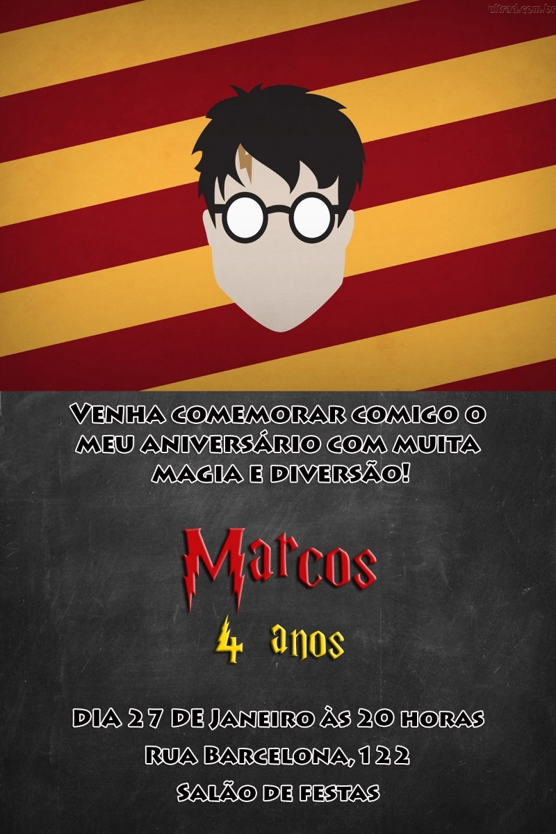 Convite Digital Harry Potter 2