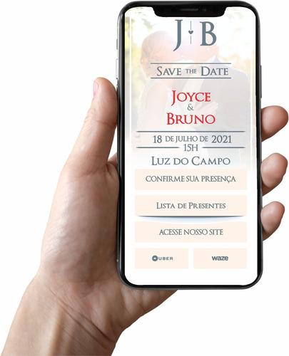 convite digital interativo casamento aniversario comemoração