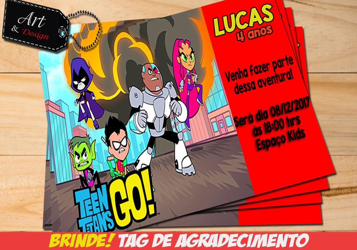 Convite Digital Jovens Titans Tag De Brinde Promoção M03 R 12