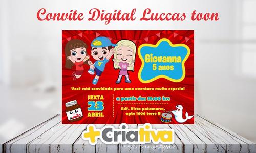 convite digital luccas neto