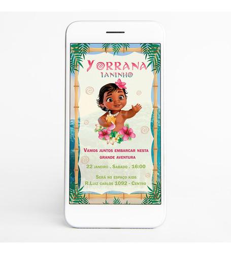 convite digital moana baby