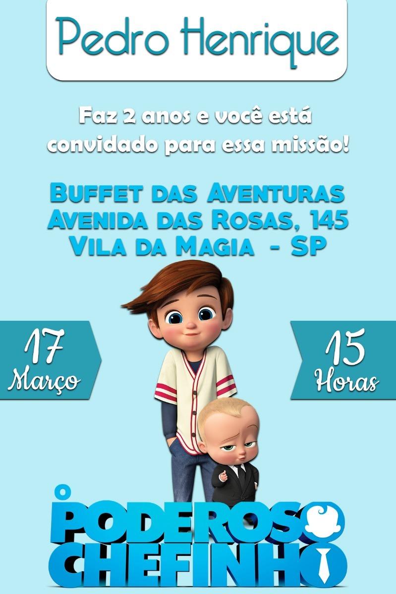Convite Digital O Poderoso Chefinho 02 Anos Crianca R 16 00 Em