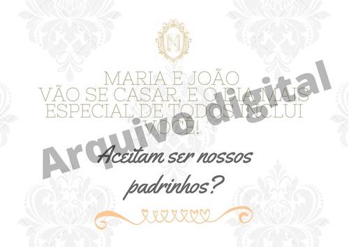 convite digital padrinhos / daminha