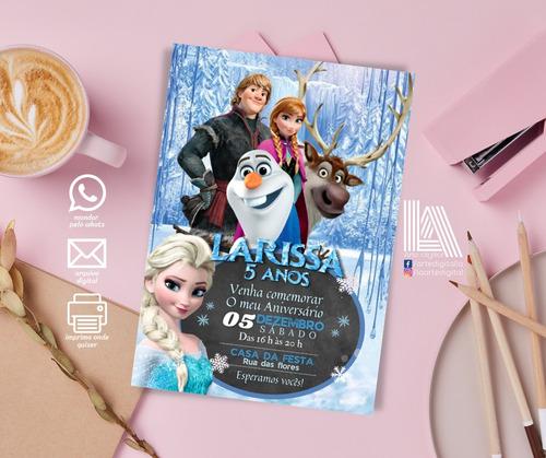 convite digital personalizado frozen/ masha/ moana/ pocoyo
