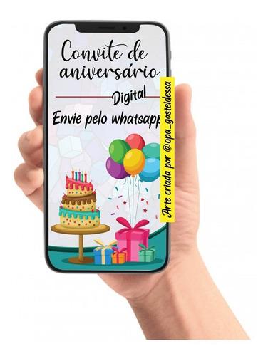 convite digital personalizado para enviar pelo whatsapp zap