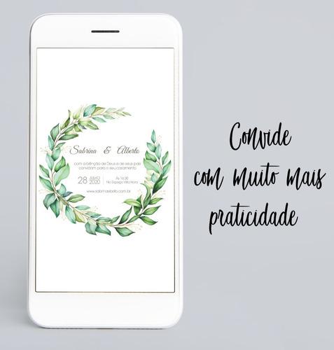 convite digital personalizado + save the date