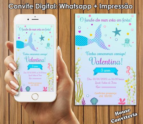 convite digital - sereia