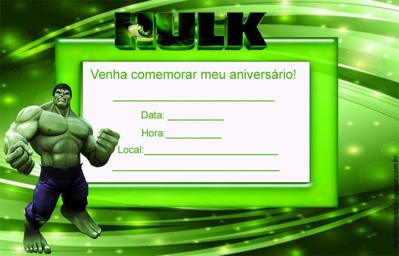 convite do hulk convite de aniversario c  30