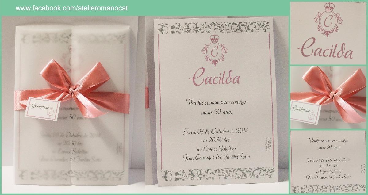 Convite Envelope Papel Vegetal R 700 Em Mercado Livre