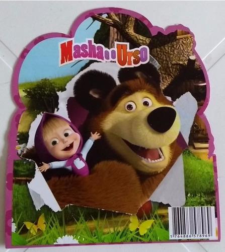 convite especial masha e o urso (10 unidades)