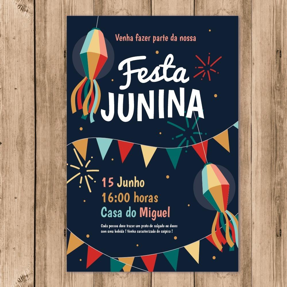 Convite Festa Junina Digital Whatsapp Imprimir 10x15 R 28 80 Em