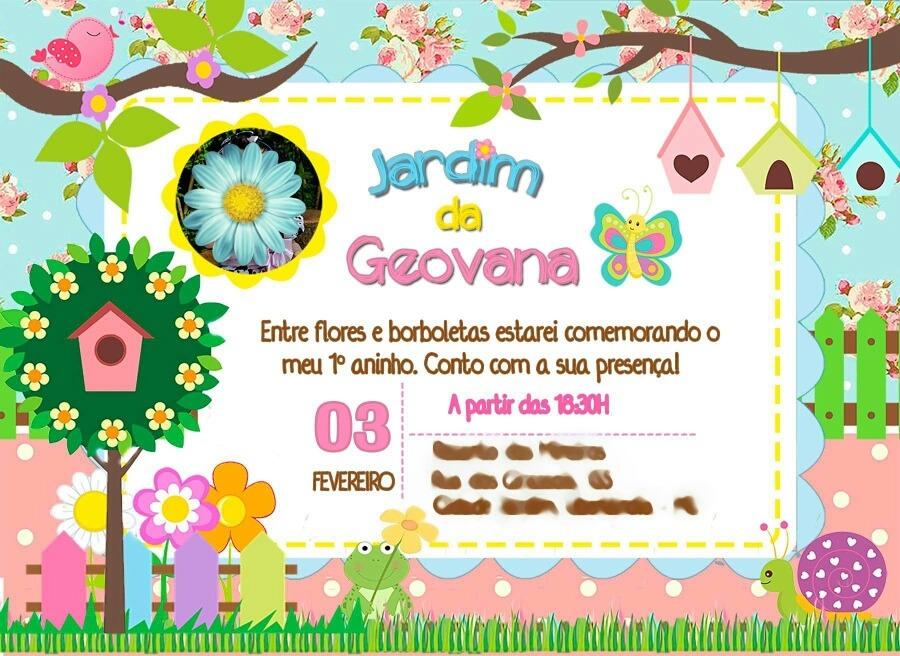 Convite Jardim Encantado Digital Para Imprimir R 22 00 Em