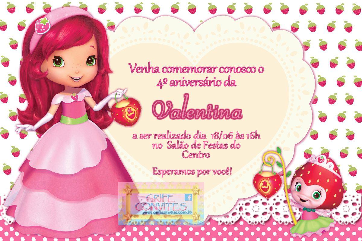 Convite Moranguinho Para Imprimir R 39 90 Em Mercado Livre