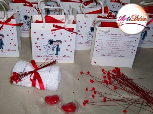 convite ou lembrança de casamento para madrinha e padrinho