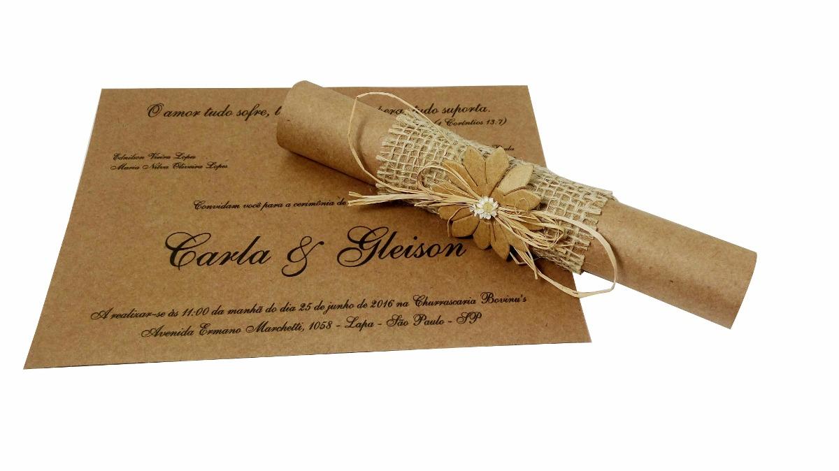 Convite padrinho casamento pergaminho muito lindo r for Papel de pared rustico