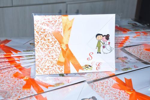 convite para casamento excelente acabamento