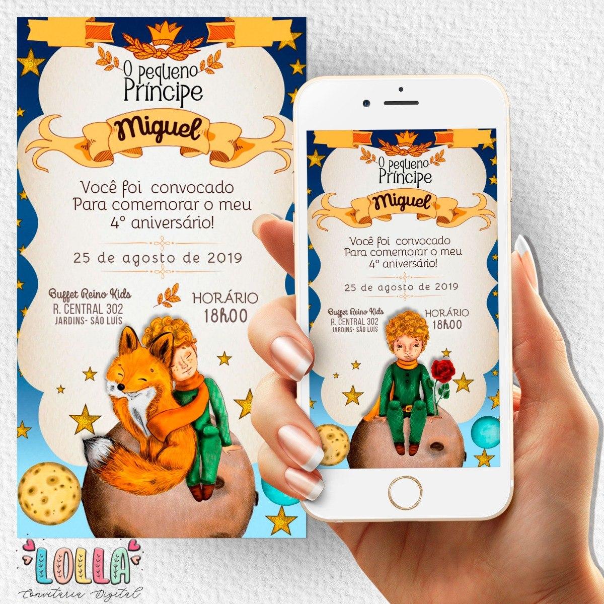 Convite Pergaminho Pequeno Príncipe Digital + Brinde - R$ 25,00 em Mercado  Livre