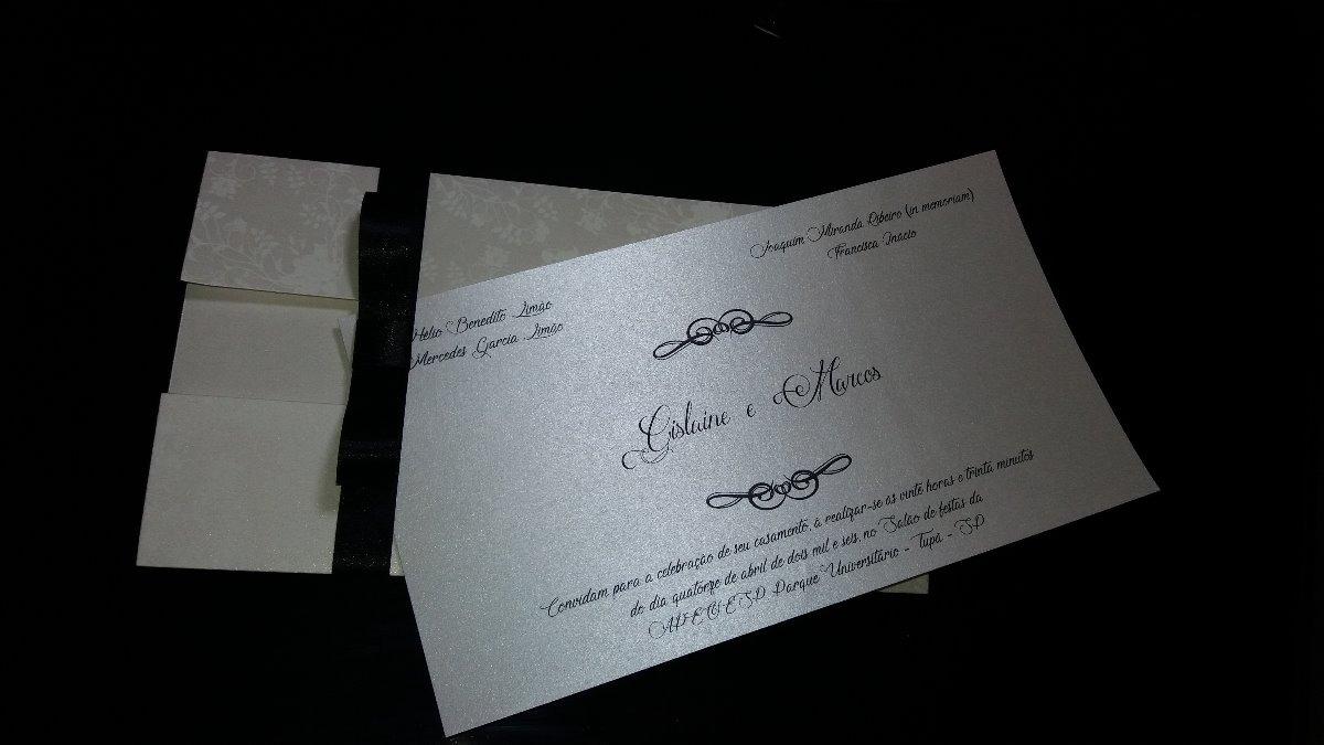 Convite Perola Para Casamento Kit Com 115 Convites R 64400 Em