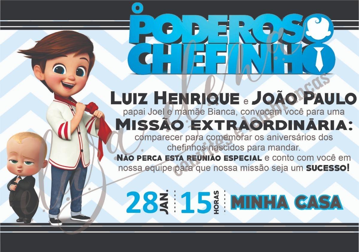 Convite Poderoso Chefinho Arte Digital R 9 99 Em Mercado Livre
