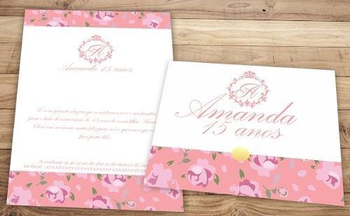 convite r$ 1,00 cada 15 anos debutante casamento luxo