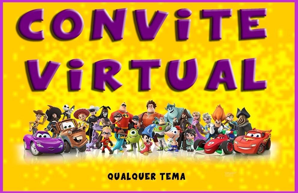 Convite Virtual Animado Infantil Em Vídeo Qualquer Tema R 2500