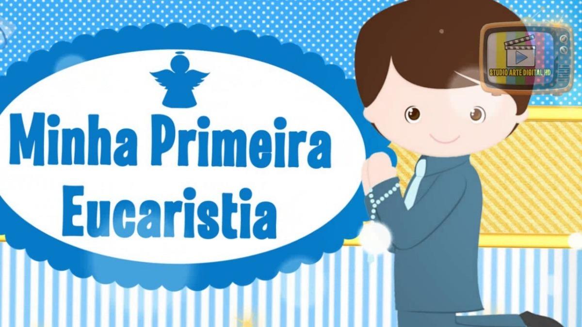 Convite Virtual Animado Para Whatsapp Primeira Eucaristia