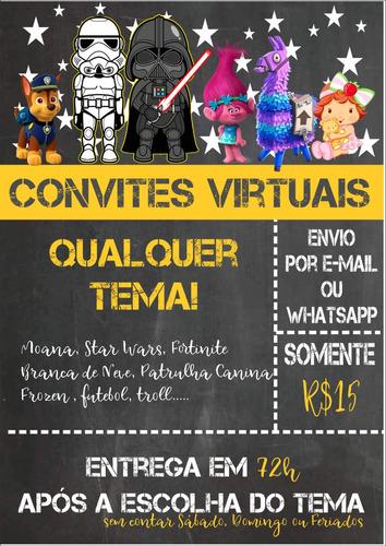 convite virtual para whatsapp qualquer tema