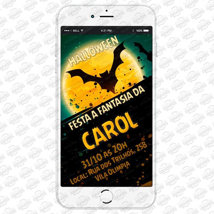 Convite Virtual Tema Halloween Para Whatsapp R 1800 Em Mercado Livre