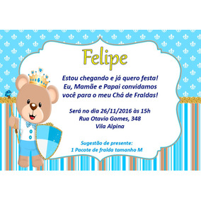 Convite Cha De Fralda Principe No Mercado Livre Brasil