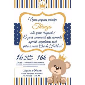 Convite Cha Bebe Ursinho Principe Convites De Chá De Bebê No