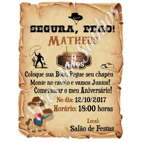 9cc2cb3ea72df Produtos Country Cowboy - Convites no Mercado Livre Brasil