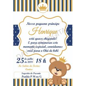 Convite Urso Principe Cha De Bebe No Mercado Livre Brasil