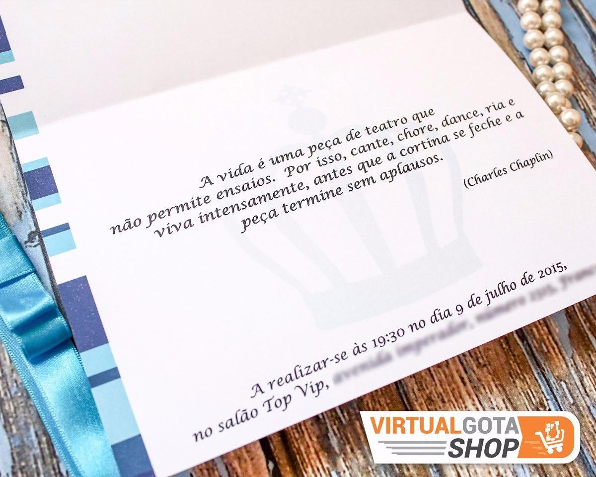 03 Convites De 15 Anos Festa Debutante Personalizado C Laço R 6