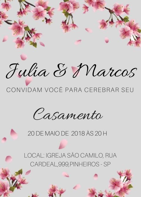 convites casamento online whatsapp pode imprimir r  1 00