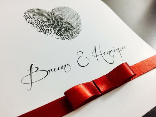 convites de casamento com laço r$1,00